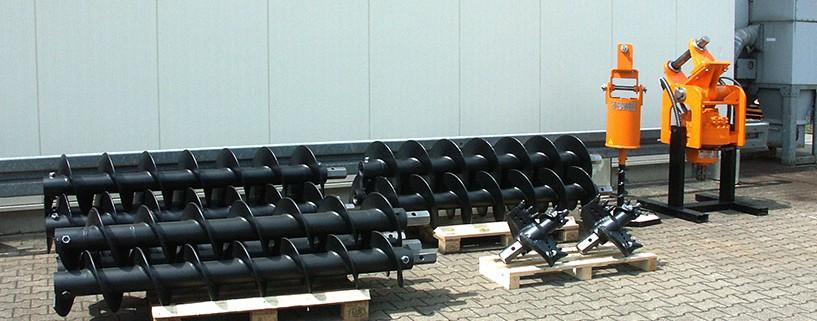 STDS Mietpark mit Bohrwerkzeugen und Bohrantrieben